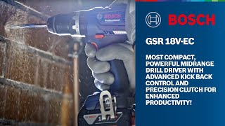 Bosch GSR 18 V-EC Professional Brushless Cordless Drill / Driver for Wood & Steel - Metal Chuck
