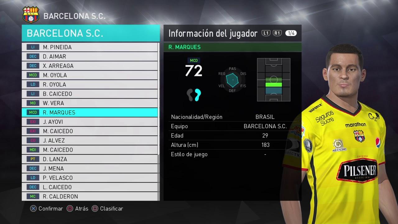newest 373ae 87b4e PES 2018 BARCELONA SC (ECUADOR) PS4