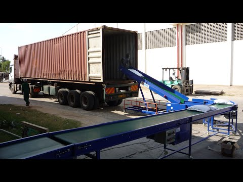 Loading Bags Directly From Warehouse To 40ft Containers