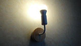 Оффтоп. Светильник из КИТАЯ E27 Modern Wooden Wall Light