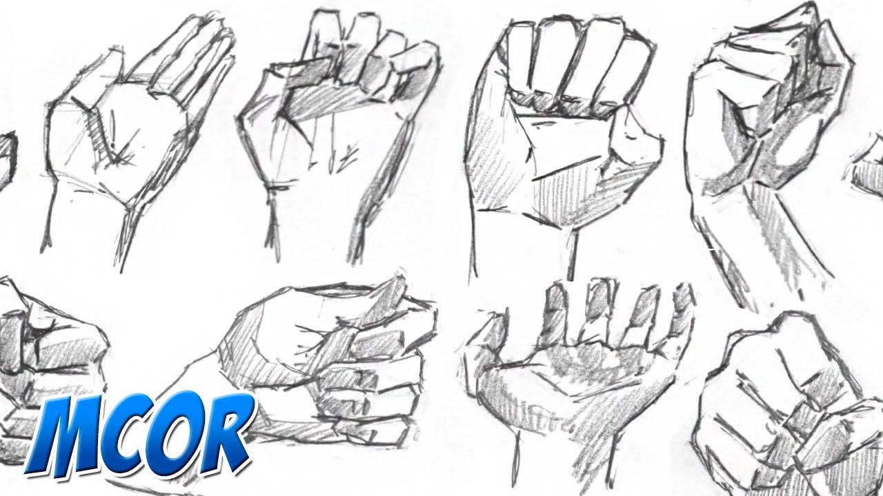 Como Dibujar Bocetando Manos Rapidamente Parte 12