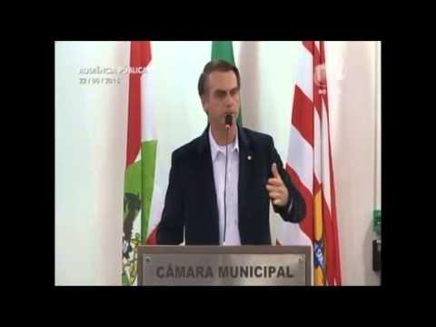 Dep. Jair Bolsonaro - Audiência Pública em Blumenau-SC