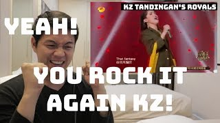 [REACTION VIDEO] KZ TANDINGAN'S ROYAL WAY OF SINGING! | SINGER 2018 | #EBReacts