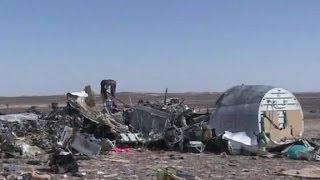 Russian plane broke apart