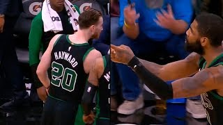 Kyrie Irving Not Happy With Gordon Hayward After Game Ending & Exchanges Words With Him !