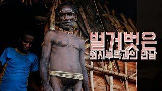 파푸아 원시 부족 탐험 11. 벌거벗은 원시부족과의 만남 (무삭제)
