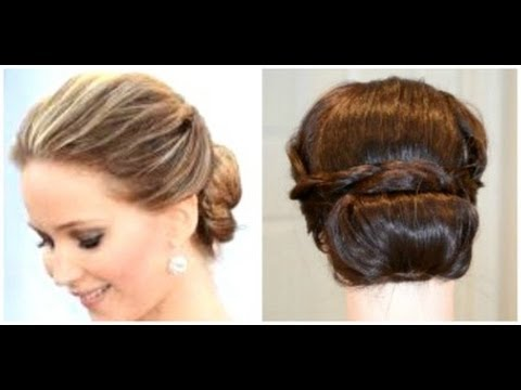 Jennifer Lawrence Inspired Hair Tutorial, Classic Updo, Easy Chignon  Hairstyle, Wedding Hairstyle , YouTube