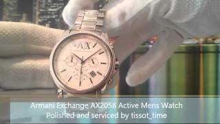 mens armani exchange ax2058 active watch