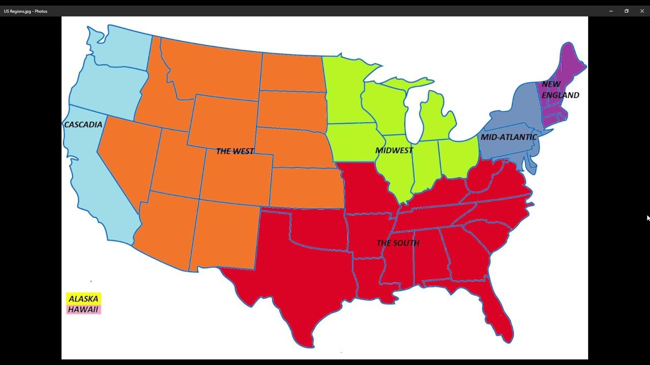 regions of the us  mid atlantic