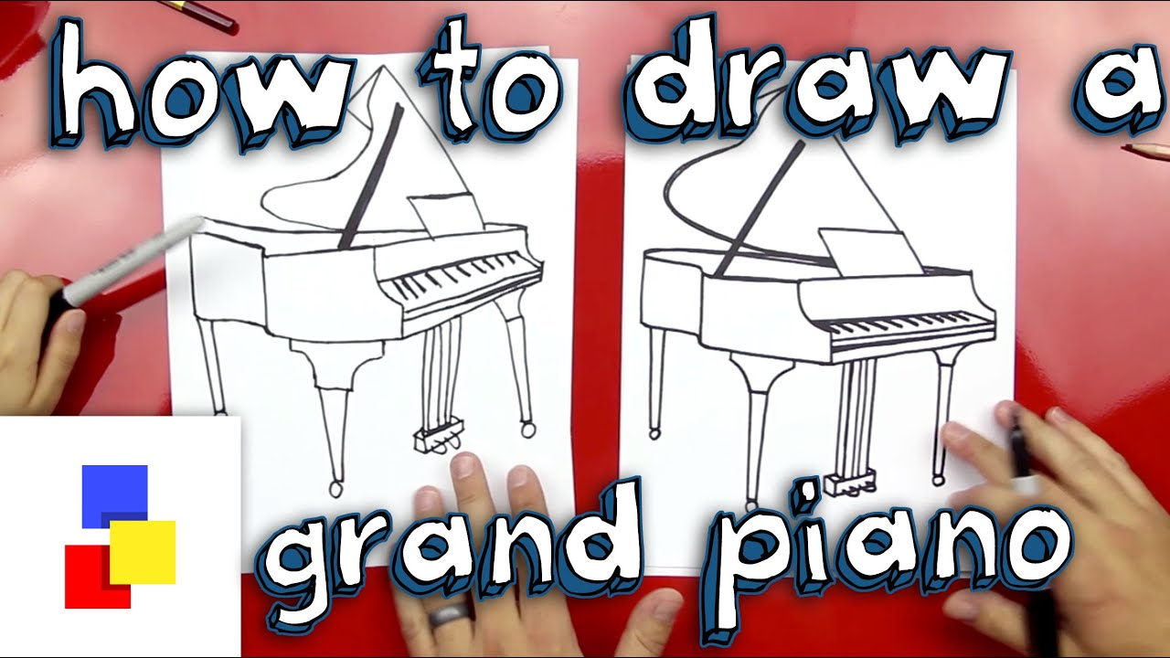 How To Draw A Grand Piano Youtube