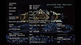 [AUDIO] 180811 비투비 BTOB TIME -THIS IS US- 콘서트 full ver.