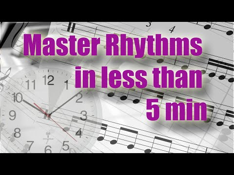 Master rhythms in less than 5 minutes. Music reading training