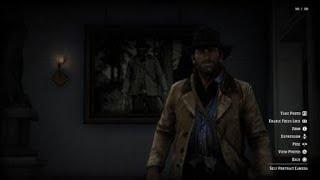 Red Dead Redemption 2 (PS4) - Arthur's Portrait at the Saint Denis Art Gallery
