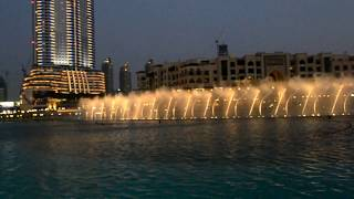 burj khalifa fountain show 2015