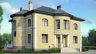 Проект дома в классическом стиле из кирпича. Дом с эркером и панорамными окнами Ремстройсервис М-177