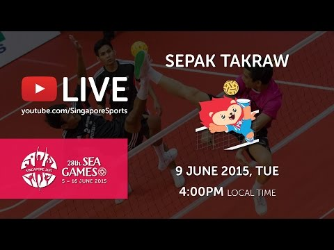 Sepak Takraw Men's Team Event Malaysia vs Singapore (Day 4) | 28th SEA Games Singapore 2015