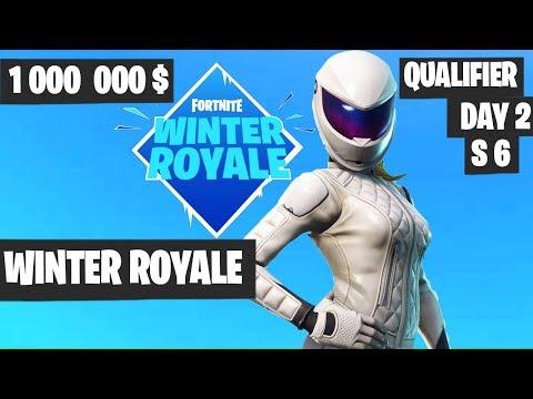Fortnite Winter Royale Qualifier Day 2 Session 6 Highlights [Fortnite Tournament 2018]