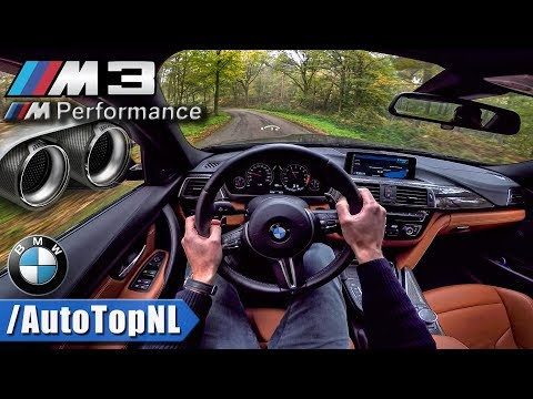 BMW M3 F80 Competition M PERFORMANCE EXHAUST LOUD! POV by AutoTopNL