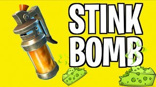 EXPLOSIVE STINK BOMBS! *NEW* FORTNITE ITEM!