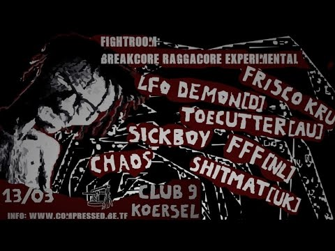 Fightroom: Toecutter Full Breakcore DJ Set (Club 9, Koersel, Belgium)