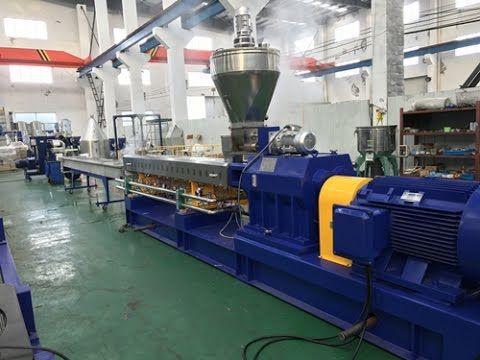Extrusion Technology Agglomerated PE Film Co-rotating Twin Screw Extrusion Design Kerke Extruder