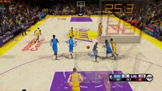 NBA 2K14 (2K19) PC Gameplay - OKC Thunder @ LA Lakers