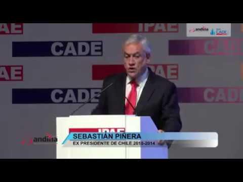CADE 2016: Exposición de expresidente de Chile Sebastián Piñera, Paracas-Perú.