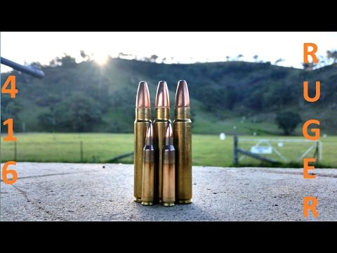 .416 Ruger Alaskan - Slow Mo - Over 5000 Foot Pounds!!