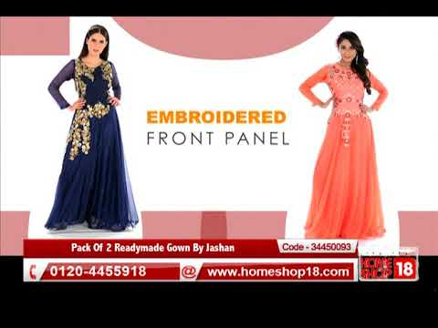 Homeshop18 Dhamaka Offer Pack Of 2 Readymade Gown By Jashan