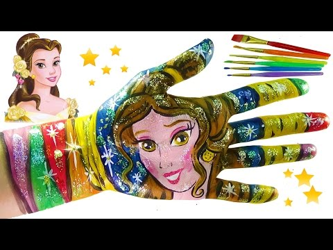 Thumbnail: Learn Colors for Children Body Paint with Play Doh Disney Princess Belle. Little Kinder Club