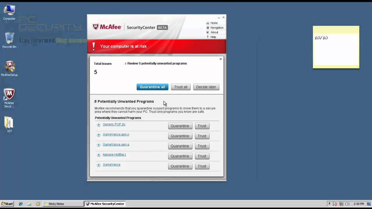 McAfee Total Protection 2013 BETA test and review