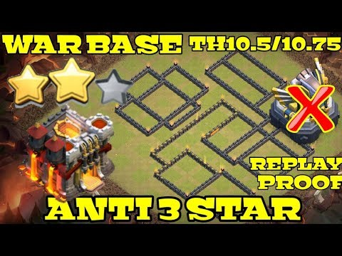 Clash Of Clans Ll War Base TH10.5 & TH10.75 Ll Anti 3 Star With Replay Proof