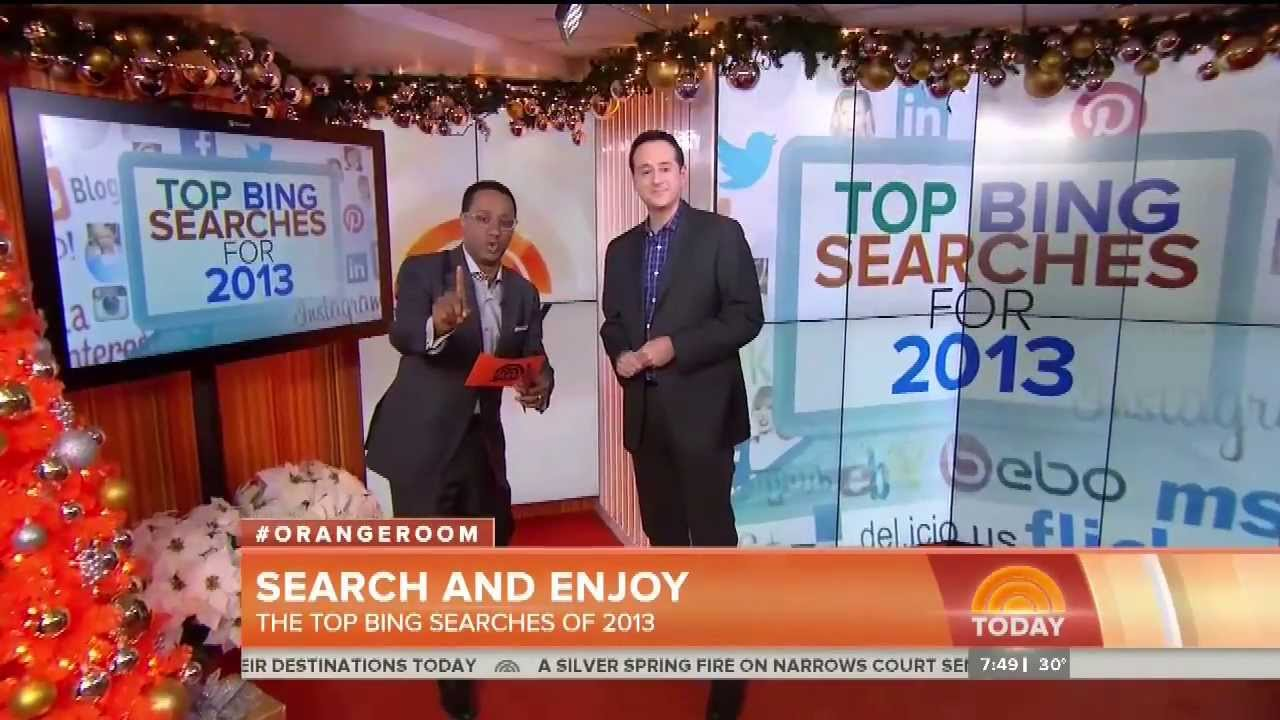 The Top Bing Searches Of 2013 (TODAY Show #OrangeRoom 12