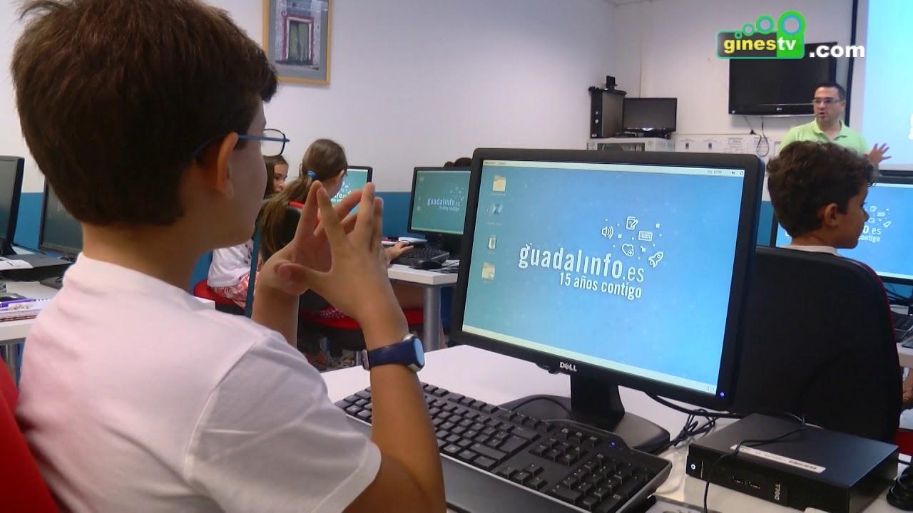 Cursos gratuitos de informática para niños en el Centro Guadalinfo de Gines