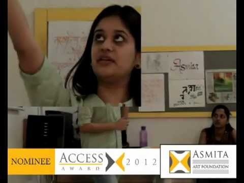 Access Award 2012 Nehal Lodha Nominee From Rachana Sansad College Of Applied Art Craft Youtube