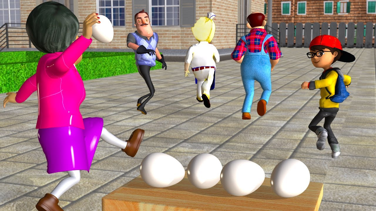 Download Scary Teacher 3D and Ice Scream Who Faster Games - The Best Troll Miss T Coffin Dance Compilation