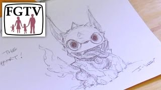 How To Draw a Skylander (Part 1: Hot Dog) - Coloring Masterclass I-Wei Huang Character Director