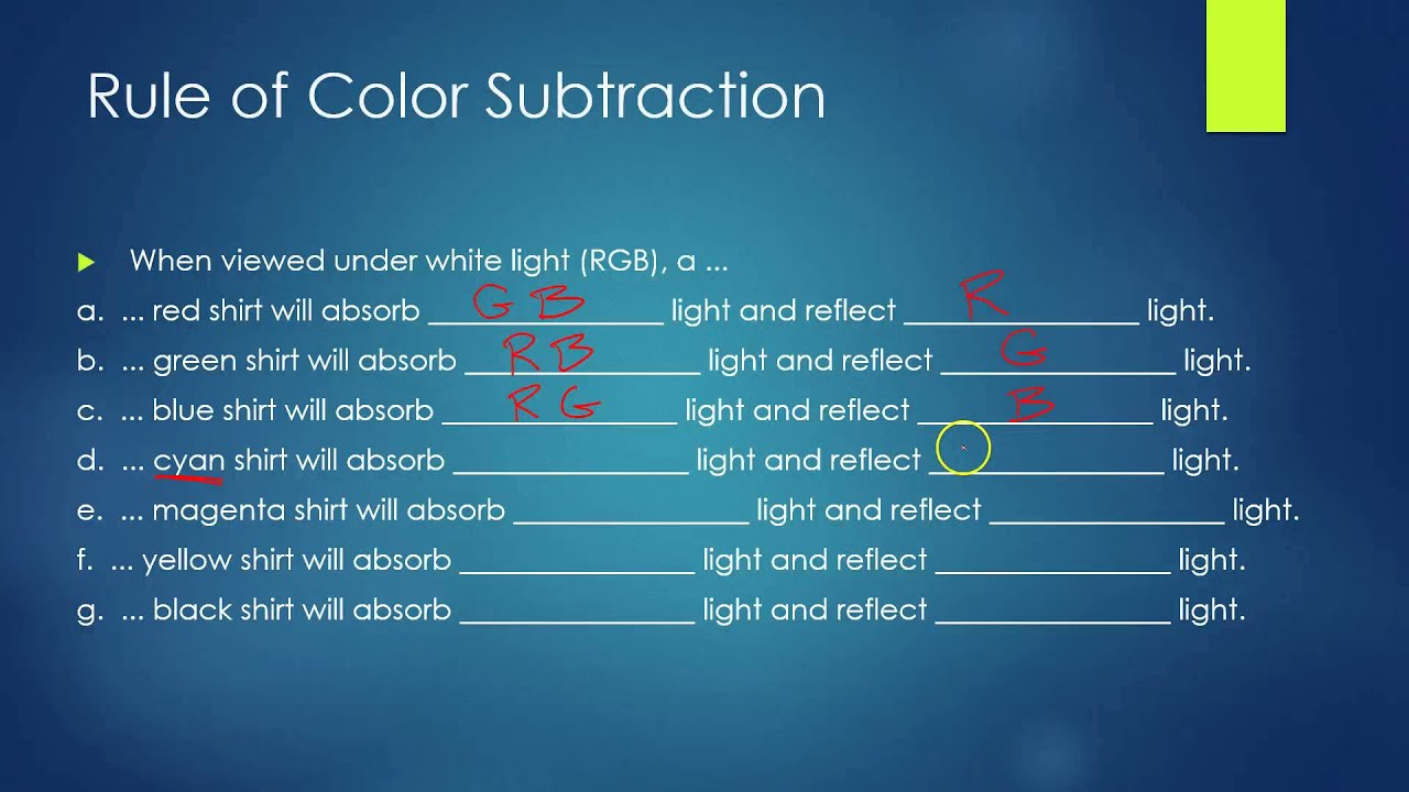 Color Addition and Subtraction - YouTube