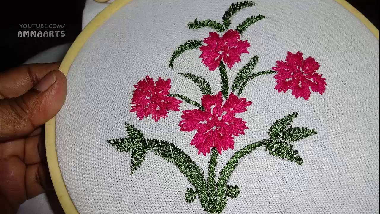 Hand embroidery lazy daisy stitch designs by