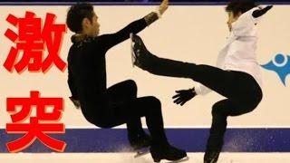 羽生結弦、村上と衝突…関係者は一時騒然/フィギュアスケート全日本選手...
