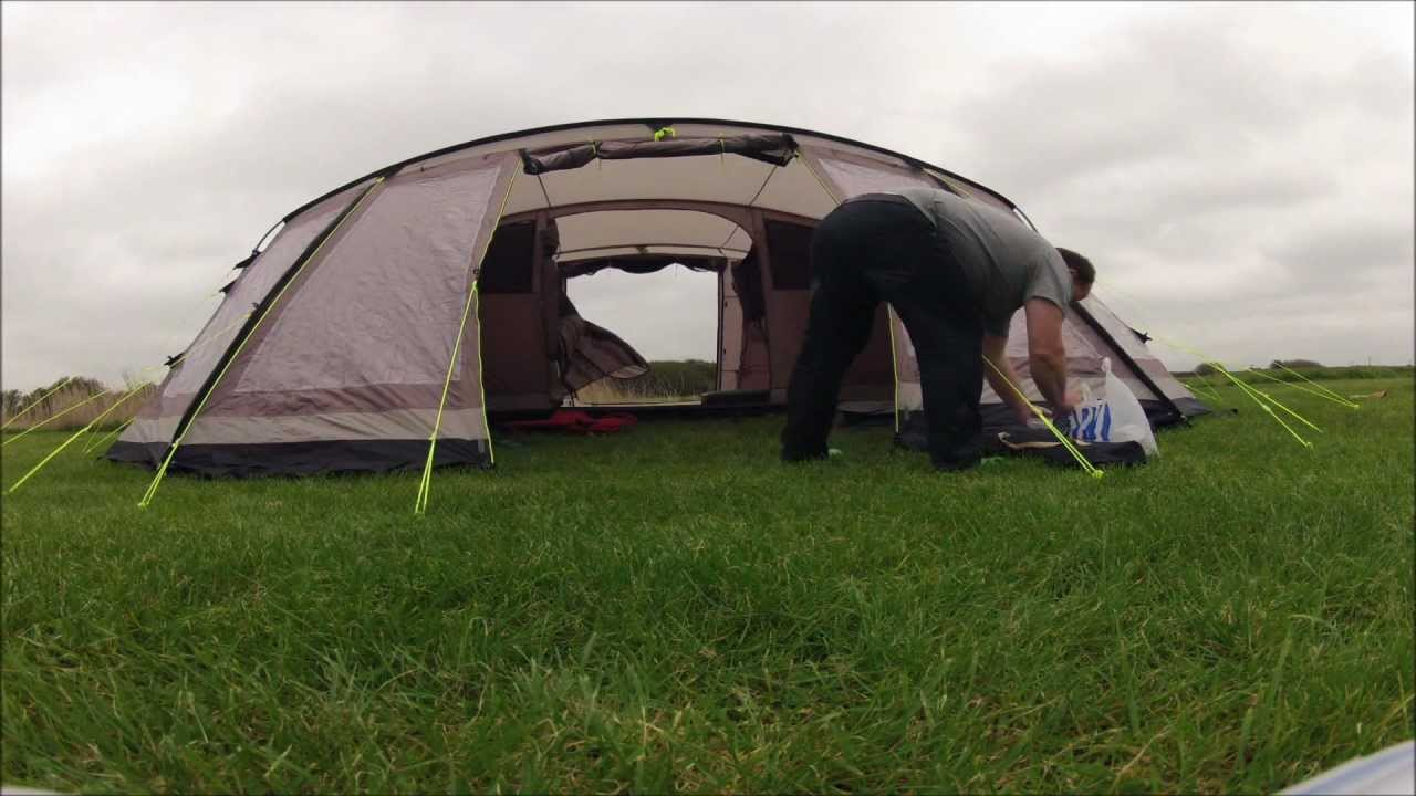 & pitching our new Outwell tennessee 6 tent - YouTube