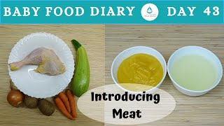 Baby Food Diary | Day 43 | First Baby Soup |Chicken Broth For 7 Month Baby |Introducing Meat To Baby