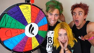 Spin the wheel of Hair Dye! (you spin it, you dye it..)