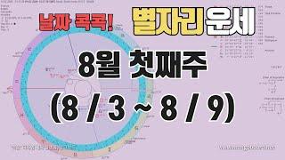 8월 첫째주 별자리운세 (8월 3일 ~ 8월 9일)