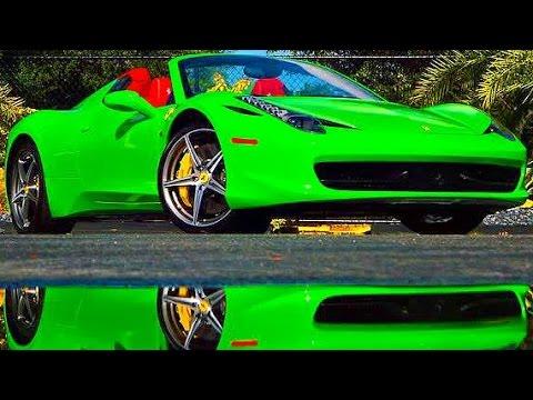 metrowrapz ferrari 458 spider 2014 lime green - Ferrari 458 Spider Green