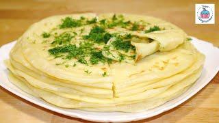 ХЫЧИНЫ с Картофелем и Сыром или Лепёшка с Начинкой На Сковороде