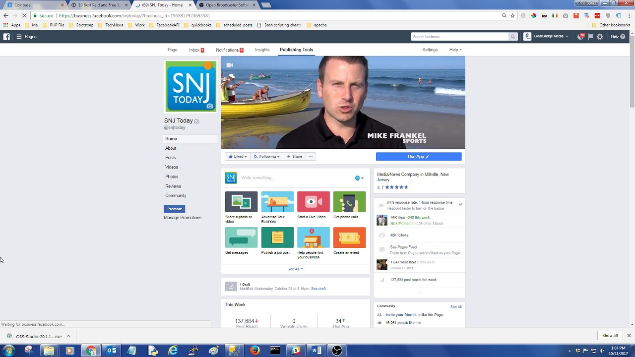 Adding Stream Key to Facebook From OBS