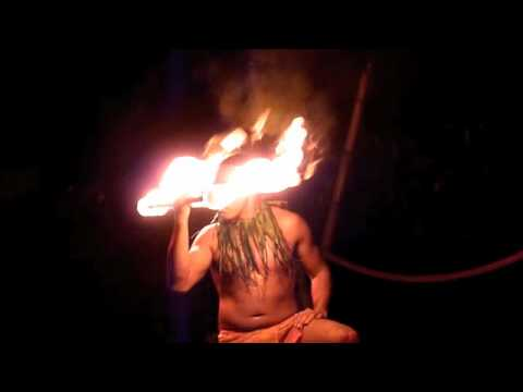 The Fire Eater at the Hawaiian Luau