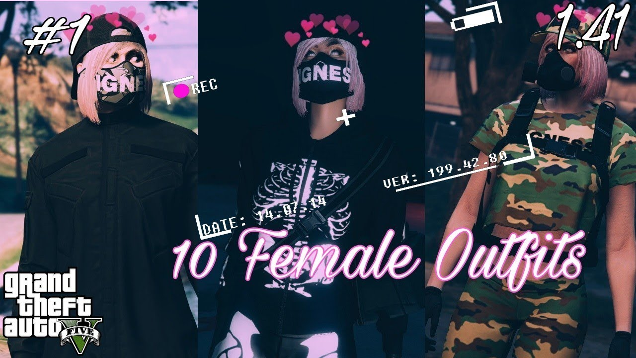 GTA 5 ONLINE | 10 Female Outfits [RNG U0026 Tryhard] - YouTube
