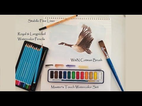 Royal /& Langnickel Small Tin Watercolor Pencil Art Set